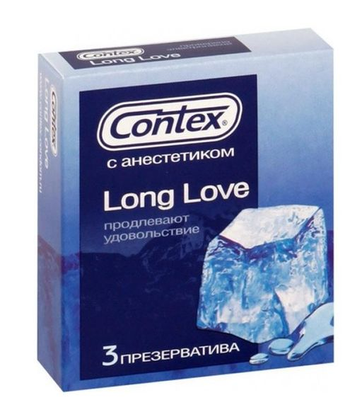 Презервативы Contex Long Love, презерватив, 3 шт.